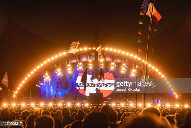 WuTang Clan performs on the Orange stage on Day 7 of Roskilde Festival on July 5 2019 in Roskilde Denmark
