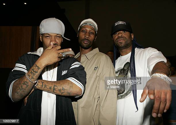 WuTang Clan Redman RZA and Method Man during 'Hero' Premiere After Party at Arclight Cinemas in Hollywood California United States