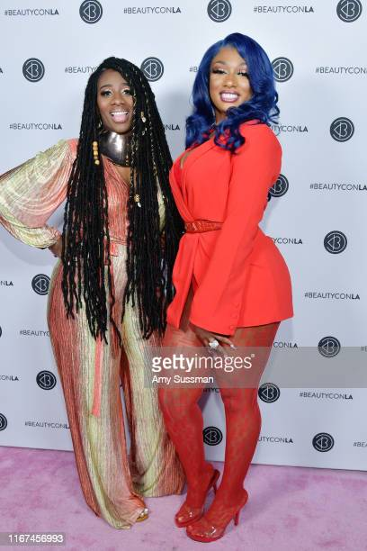 Wuzzam Supa and Megan Thee Stallion attend Beautycon Festival Los Angeles 2019 at Los Angeles Convention Center on August 11 2019 in Los Angeles...