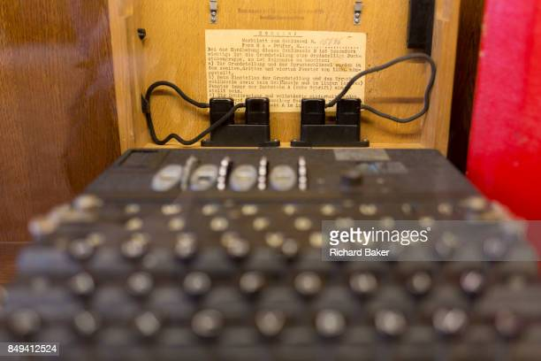 Era German secret Enigma code machine is displayed in the Locarno Dining Room, in the Foreign and Commonwealth Office , on 17th September 2017, in...