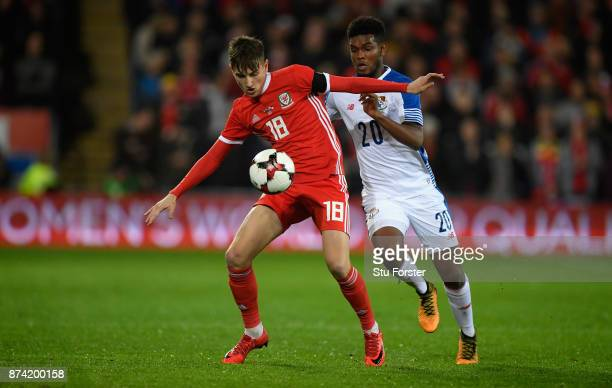Wwales player David Brooks in action during the International Friendly match between Wales and Panama at Cardiff City Stadium on November 14 2017 in...