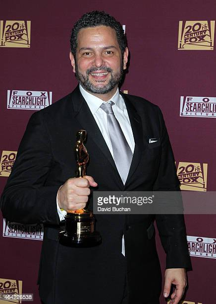 Wwriter/producer Nicolas Giacobone attends the 21st Century Fox and Fox Searchlight Oscar Party at BOA Steakhouse on February 22 2015 in West...