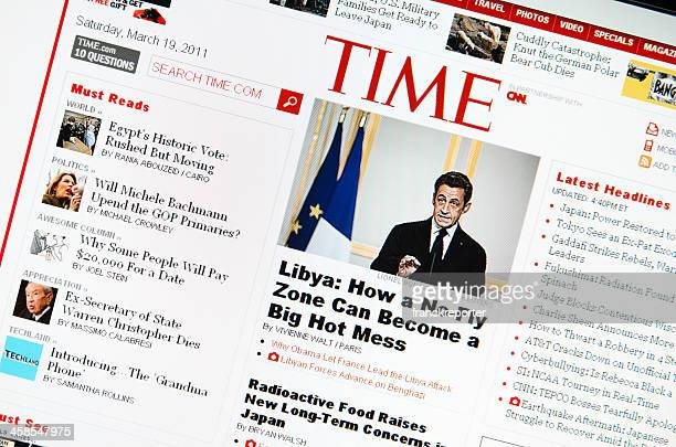 www.time.com main page - homepage stock pictures, royalty-free photos & images