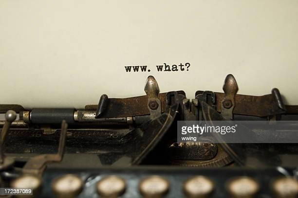 www.what? on antique typewriter
