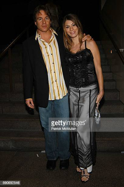 Wyatt Beatty and Amber Beatty attend Basquiat Exhibition Preview at MOCA on July 15 2005 in Los Angeles CA