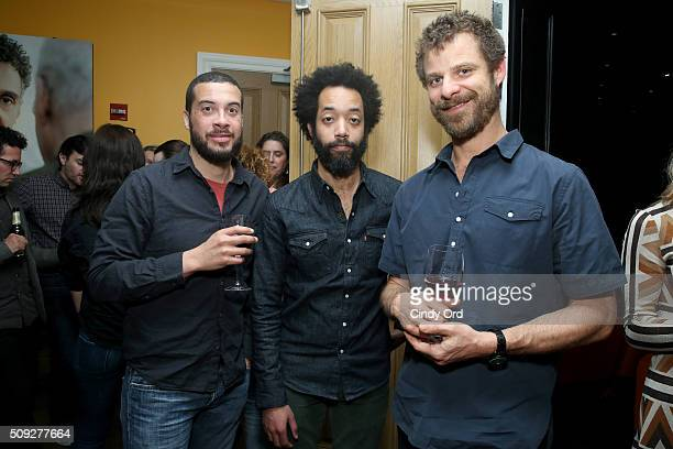 Wyatt Cenac and Matt Stone attend the New York screening for NEW YORKER PRESENTS at Crosby Hotel on February 9 2016 in New York City