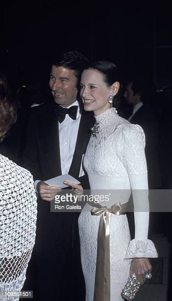 Wyatt Cooper and Gloria Vanderbilt during Charlie Chaplin Received an Evening Tribute at Philharmonic Hall in New York City New York United States