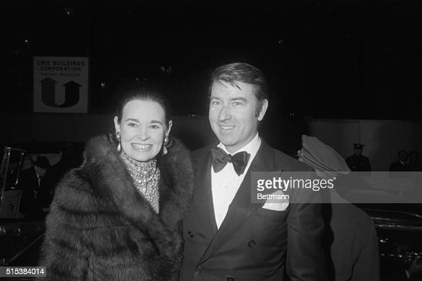 Wyatt Cooper and his wife the former Gloria Vanderbilt at premiere of 'Coco' in New York