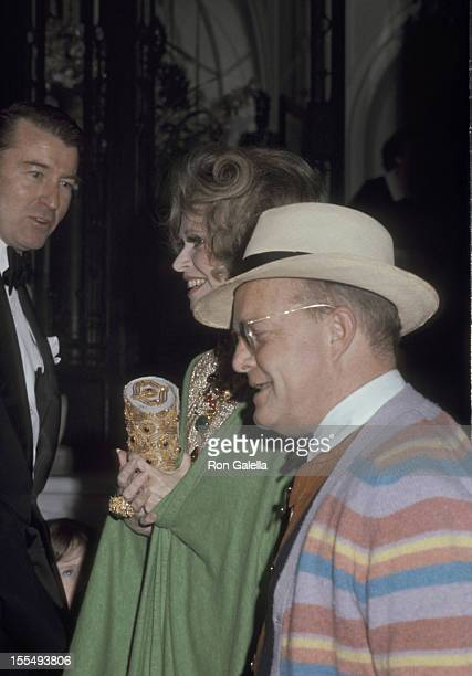 Wyatt Cooper Suzy Miele and Truman Capote during Truman Capote File Photos by Galella in New York City New York United States