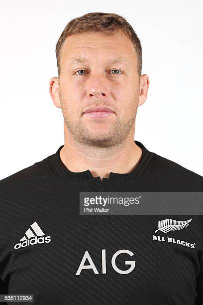 Wyatt Crockett of the All Blacks poses for a portrait during a New Zealand All Black portrait session on May 29 2016 in Auckland New Zealand