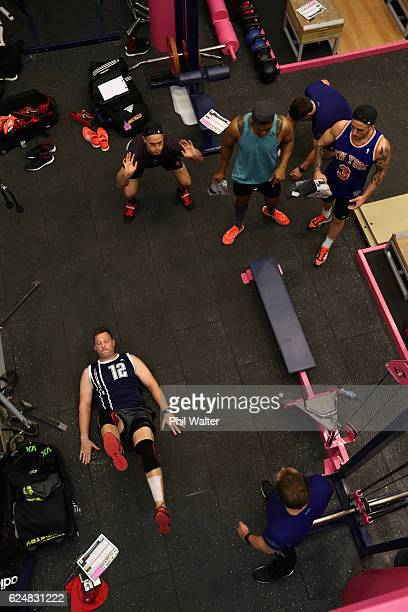 Wyatt Crockett of the New Zealand All Blacks during a gym session at Stade Francais on November 21 2016 in Paris France