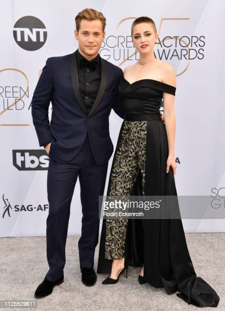 Wyatt Nash and Aubrey Swander arrive at the 25th Annual Screen Actors Guild Awards at The Shrine Auditorium on January 27, 2019 in Los Angeles,...