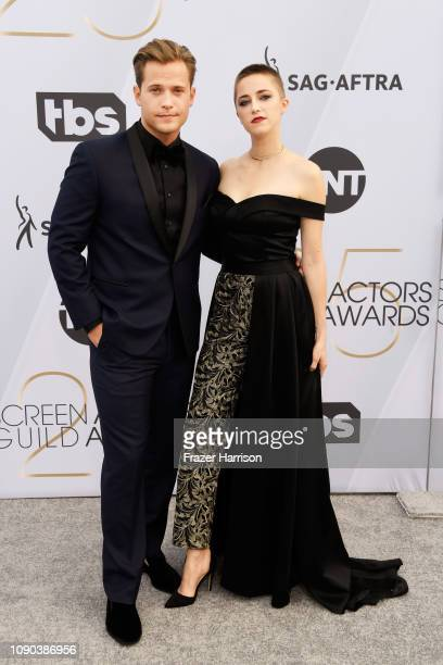 Wyatt Nash ) and Aubrey Swander attend the 25th Annual Screen Actors Guild Awards at The Shrine Auditorium on January 27, 2019 in Los Angeles,...