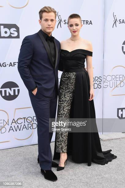 Wyatt Nash and Aubrey Swander attend the 25th Annual Screen Actors Guild Awards at The Shrine Auditorium on January 27, 2019 in Los Angeles,...
