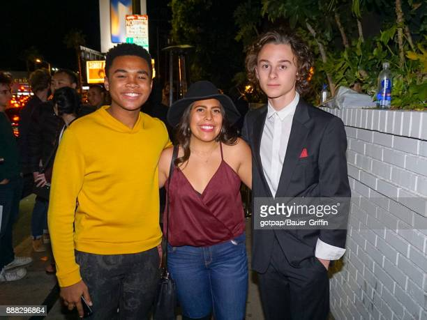 Wyatt Oleff and Chosen Jacobs are seen on December 07 2017 in Los Angeles California