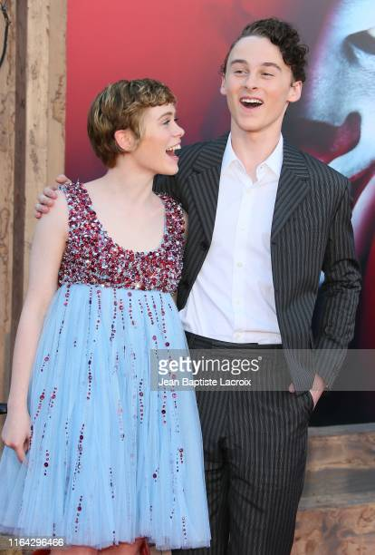 Wyatt Oleff and Sophia Lillis attend the Premiere of Warner Bros Pictures' It Chapter Two at Regency Village Theatre on August 26 2019 in Westwood...