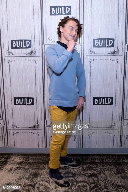 Wyatt Oleff attends Build Presents to discuss the film 'IT' at Build Studio on August 30 2017 in New York City