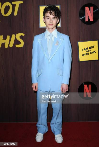 Wyatt Oleff attends Netflix's I Am Not Okay With This Photocall at The London West Hollywood on February 25 2020 in West Hollywood California
