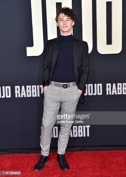 Wyatt Oleff attends the Premiere of Fox Searchlights' Jojo Rabbit at Post 43 on October 15 2019 in Los Angeles California