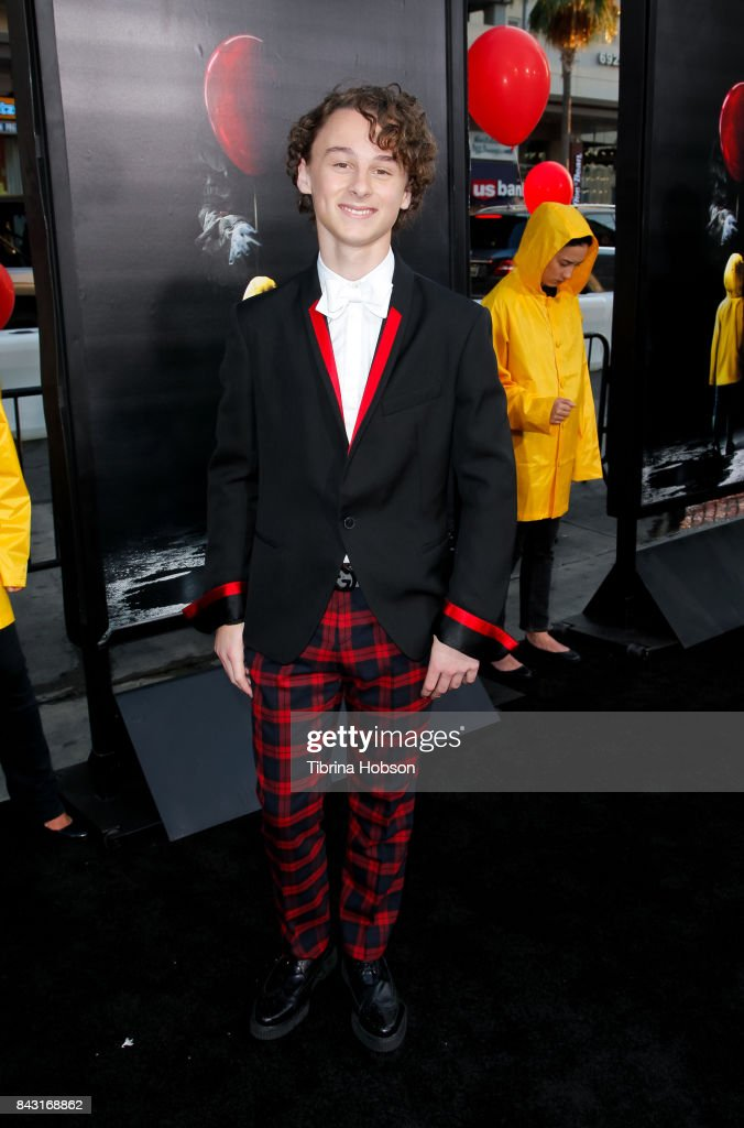 Wyatt Oleff attends the premiere of 'It' at TCL Chinese Theatre on September 5, 2017 in Hollywood, California.