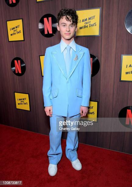 Wyatt Oleff attends the premiere of Netflix's I Am Not Okay With This at The London West Hollywood on February 25 2020 in West Hollywood California