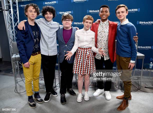 Wyatt OleffFinn WolfhardJeremy Ray TaylorSophia LillisChosen Jacobs and Jaeden Lieberher from the cast of 'It' visit SiriusXM at the SiriusXM Studios...