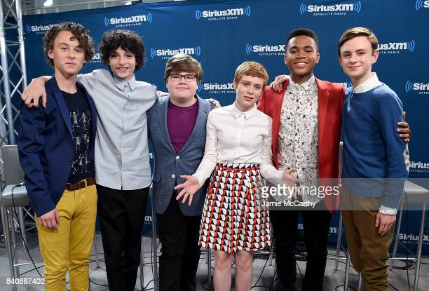 Wyatt OleffFinn WolfhardJeremy Ray TaylorSophia LillisChosen Jacobs and Jaeden Lieberher from the cast of It visit SiriusXM at the SiriusXM Studios...