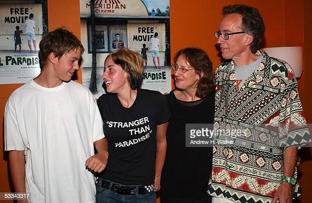 """Wyatt Pierson, Georgia Pierson, Janet Pierson, and John Pierson attend the premiere of """"Reel Paradise"""" on August 8, 2005 in New York City, NY. """"Reel..."""