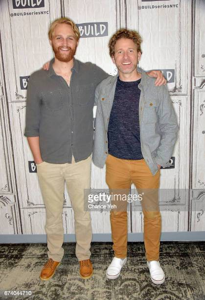"""Wyatt Russell and Jeff Grace attend Build series to discuss """"Folk Hero & Funny Guy"""" at Build Studio on April 27, 2017 in New York City."""