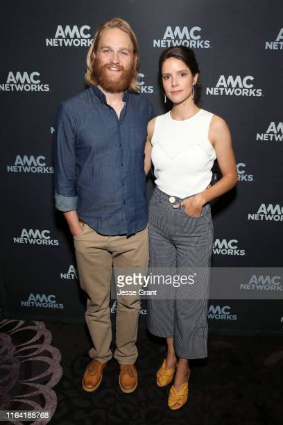 Wyatt Russell and Sonya Cassidy attend the AMC Networks portion of the Summer 2019 TCA Press Tour on July 25, 2019 in Los Angeles, California.