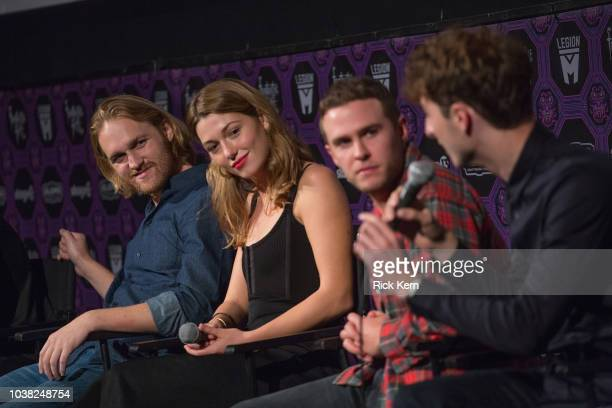 Wyatt Russell Mathilde Ollivier Iain De Caestecker and Dominic Applewhite at the QA after the World Premiere of 'Overlord' during the 2018 Fantastic...