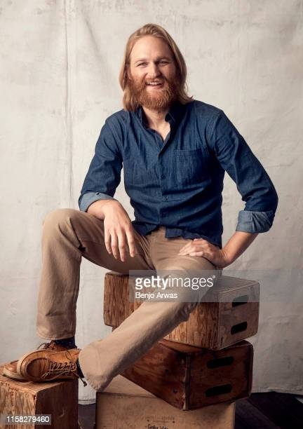Wyatt Russell of AMC's 'Lodge 49' poses for a portrait during the 2019 Summer Television Critics Association Press Tour at The Beverly Hilton Hotel...