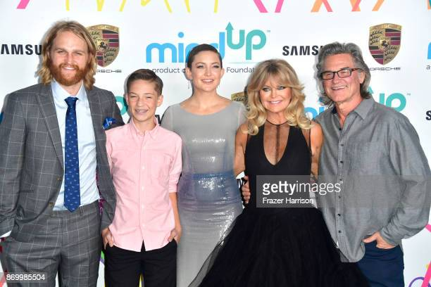 Wyatt Russell Ryder Robinson Kate Hudson Goldie Hawn and Kurt Russell attends Goldie's Love In For Kids at Ron Burkle's Green Acres Estate on...