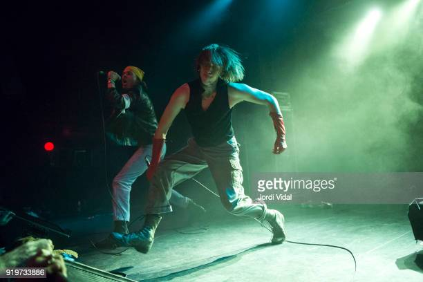 Wyatt Shears and Fletcher Shears of The Garden perform on stage during Burguer Invasion Festival at Sala Apolo on February 17 2018 in Barcelona Spain