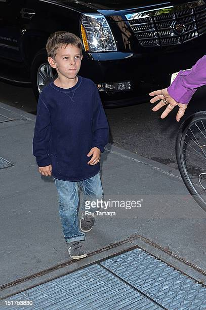 Wyatt Steven Crow leaves the Katie taping at the ABC Lincoln Center Studios on September 10 2012 in New York City