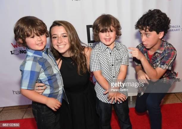"Wyatt Walters, Dyan Walters, and Jason Drucker attend ""Diary Of A Wimpy Kid: The Long Haul"" Atlanta screening hosted by Dwight Howard at Regal..."