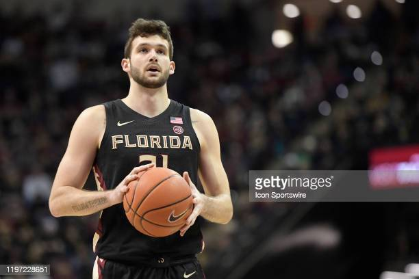 Wyatt Wilkes forward Florida State University Seminoles makes a free throw during the game against the Notre Dame Fighting Irish, Saturday, January...