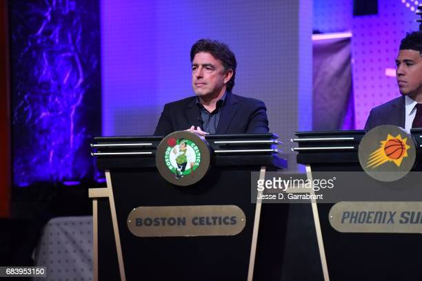 Wyc Grousbeck of the Boston Celtics looks on during the 2017 NBA Draft Lottery at the New York Hilton in New York New York NOTE TO USER User...