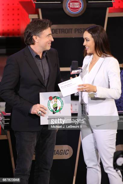 Wyc Grousbeck of the Boston Celtics poses for a photo after the Boston Celtics gets the pick during the 2017 NBA Draft Lottery at the New York Hilton...