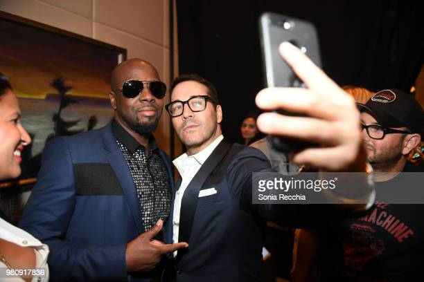 Wyclef Jean and actor Jeremy Piven attend Joe Carter Classic After Party at Ritz Carlton on June 21 2018 in Toronto Canada