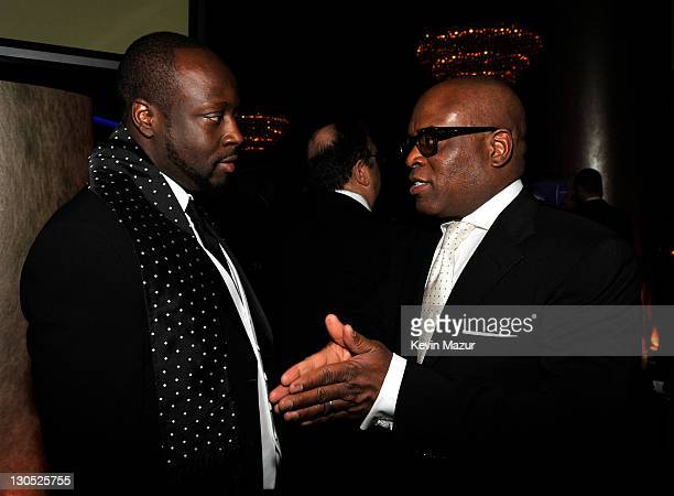 Wyclef Jean and Antonio 'LA' Reid at the 52nd Annual GRAMMY Awards Salute To Icons Honoring Doug Morris held at The Beverly Hilton Hotel on January...