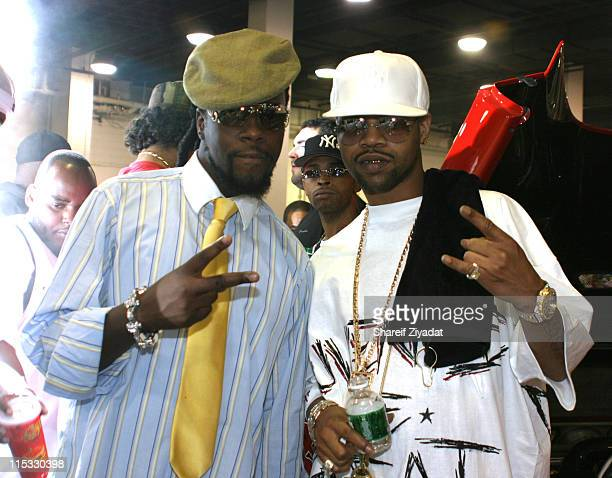 Wyclef Jean and Juvenile during Power 105.1 and Wyclef Jean Present The 2004 Custom Car And Bike Show at Nassau Colisseum in Long Island, New York,...