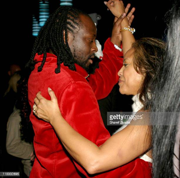 Wyclef Jean and Lynn Whitfield during Wyclef Jean Birthday Party at Quo in Newark NY United States