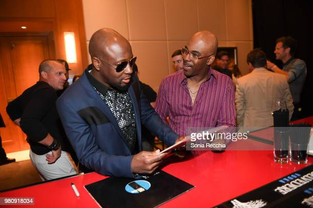 Wyclef Jean and Maestro Fresh Wes attend Joe Carter Classic After Party at Ritz Carlton on June 21 2018 in Toronto Canada