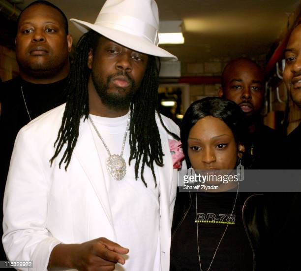 Wyclef Jean and Trini during VP Records 25th Anniversary - Arrivals and Concert at Radio City Music Hall in New York City, New York, United States.