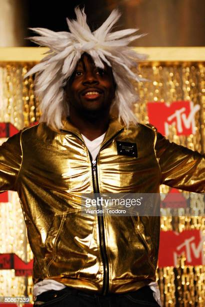 Wyclef Jean arrives at the MTV Australia Awards 2008 at the Australian Technology Park Redfern on April 26 2008 in Sydney Australia This year's event...