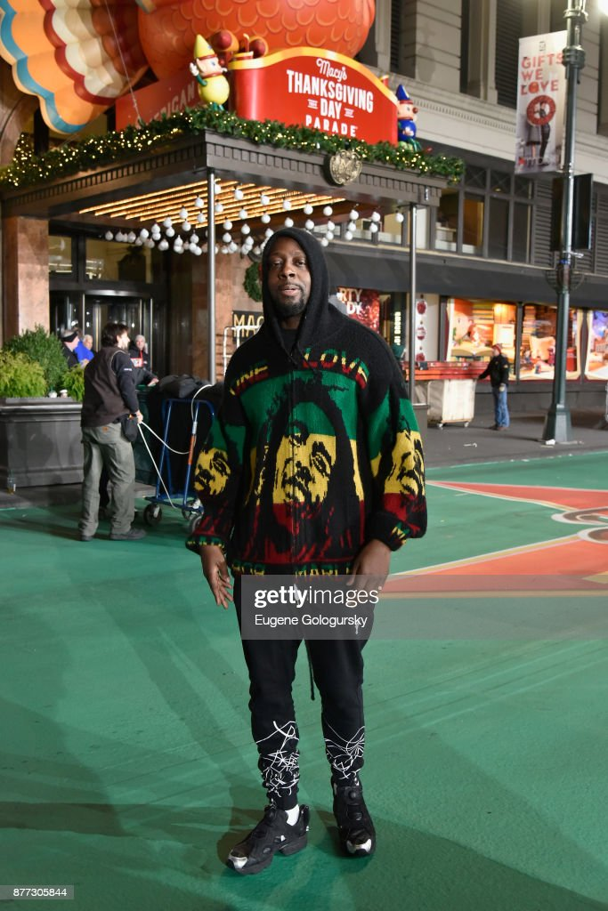 Wyclef Jean attends Macy's Thanksgiving Day Parade Talent Rehearsals at Macy's Herald Square on November 21, 2017 in New York City.