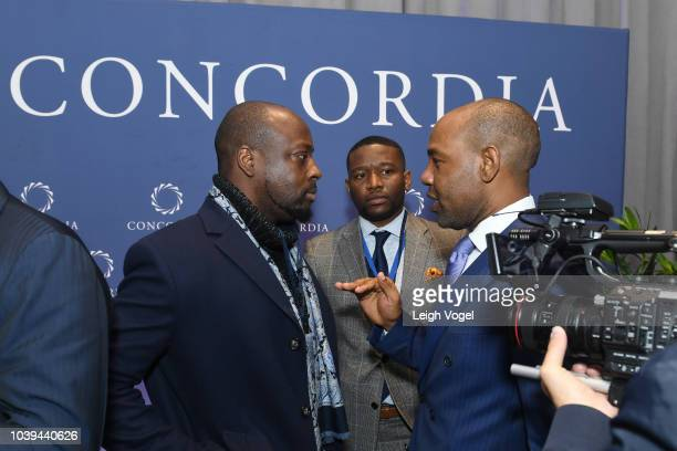 Wyclef Jean attends the 2018 Concordia Annual Summit - Day 1 at Grand Hyatt New York on September 24, 2018 in New York City.
