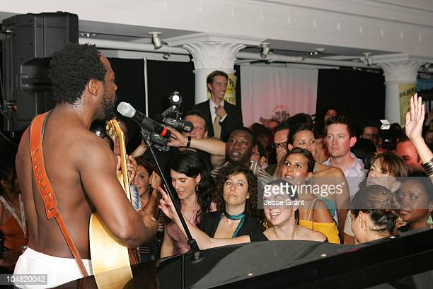 Wyclef Jean during 2005 Toronto Film Festival HD Net Films Party at Premiere Lounge at Club Monaco in Toronto Canada