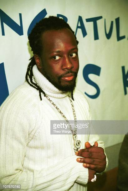 Wyclef Jean during Wyclef Jean announces allstar lineup for the Wyclef Jean Foundation benefit concert at Carnegie Hall at Sony Music building in New...